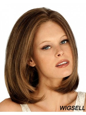 Chin Length Straight Lace Front Auburn Stylish Bob Wigs