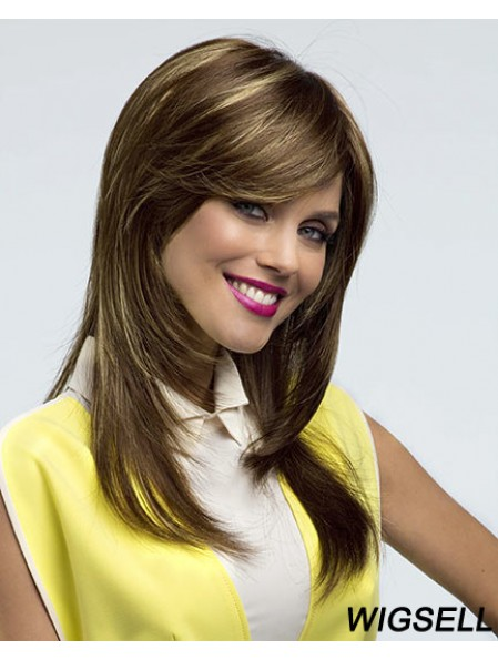 Long Layered Wig UK Straight Hair With Lace Front in Big Discount