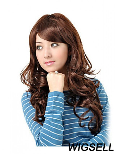 Long Layered Wavy Auburn High Quality Synthetic Wigs