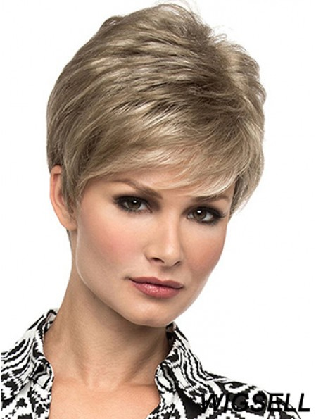 Affordable 6 inch Straight Blonde Boycuts Short Wigs