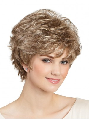 Capless Short Wigs UK For Ladies Natural Looking