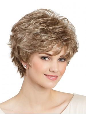 Capless Short Wigs UK For Ladies Natural Looking