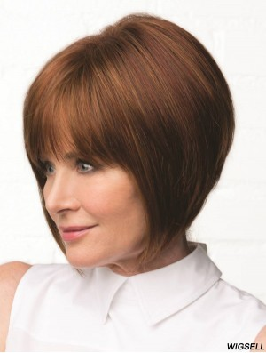 "Capless Auburn Straight Bobs 10"" Synthetic Wigs"