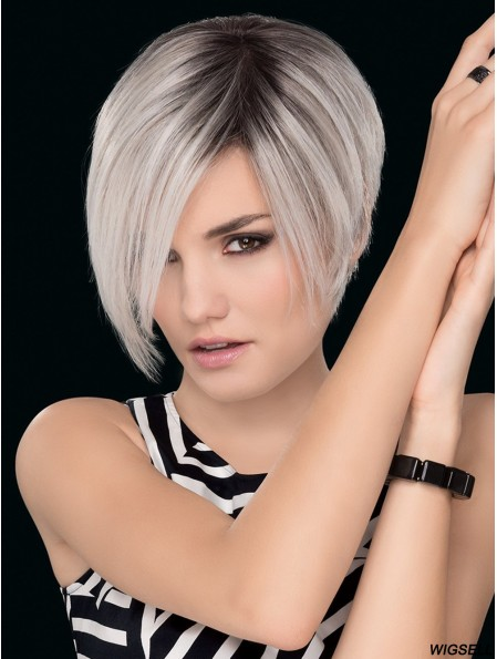 Grey Wig Hand tied Short Wig UK Monofilament Wig Online