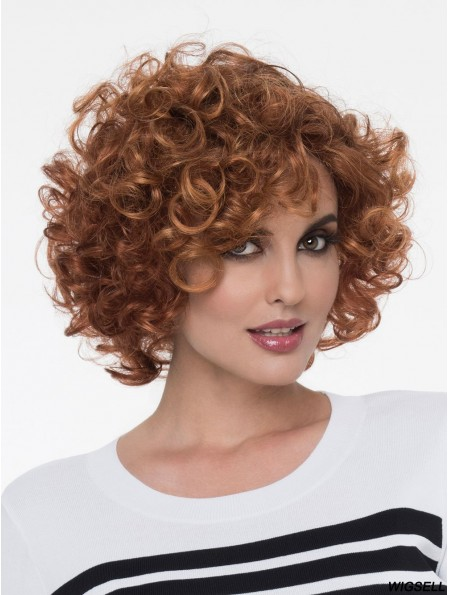 Curly Wig Brown Hair Chin Length Wig UK Cheap