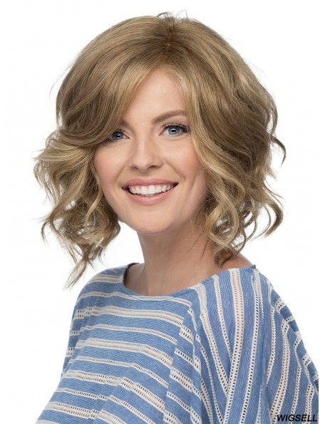 Curly Blonde Layered 10 inch Lace Front Wigs