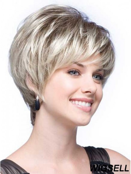 Grey Wigs With Synthetic Short Length Wavy Style