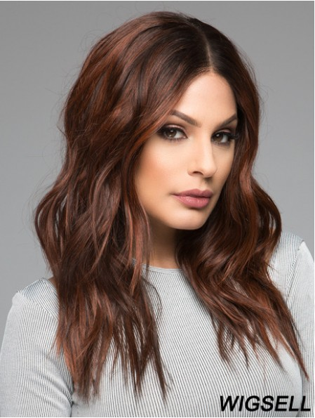 Long Curly Layered Auburn Online 100% Hand-tied Wigs