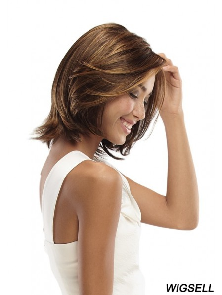 No-Fuss Chin Length Wavy 11 inch Synthetic Glueless Lace Front Wigs