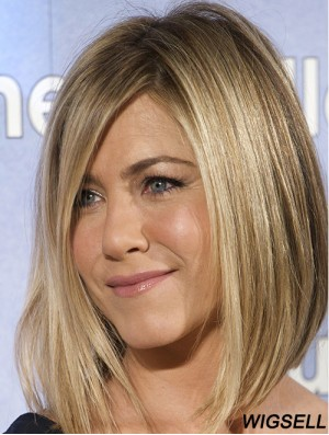 Jennifer Aniston Style Wig With Bangs Shoulder Length