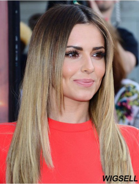 Cheryl Cole Wigs Blonde Color Lace Front Straight Style Long Length