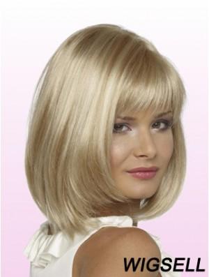 Bobs Chin Length Blonde Straight Trendy Petite Wigs