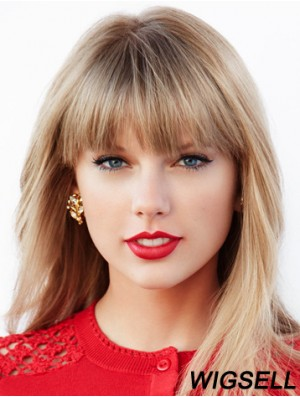Blonde Lace Front Wig Taylor Swift Wig Long Straight Hair