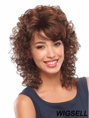 Curly Auburn Soft Shoulder Length Classic Wigs