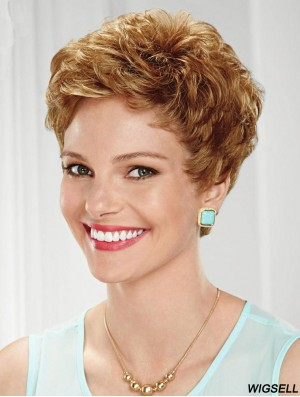 Cropped Wavy Boycuts Sassy Blonde Lace Front Wigs