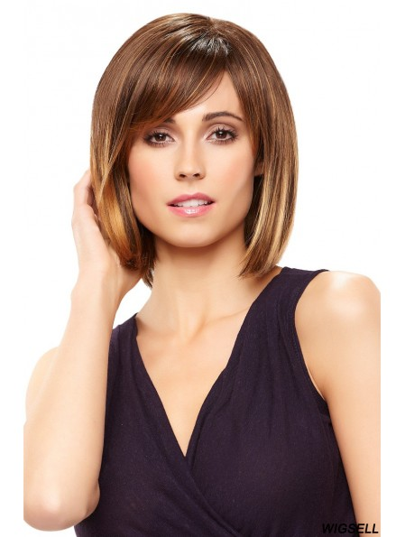 Lace Front Chin Length Straight Brown Comfortable Bob Wigs