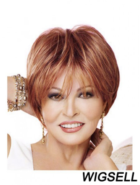 Great Red Short Straight Boycuts Lace Front Wigs