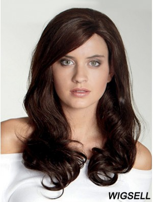 Wavy With Bangs Long Auburn Beautiful Lace Front Wigs
