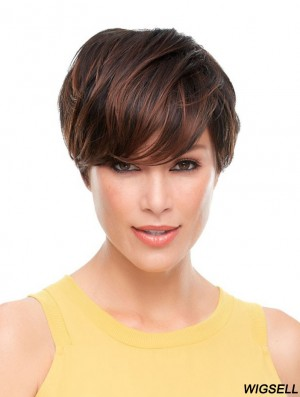 Wavy Boycuts Cropped Brown Best Lace Front Wigs