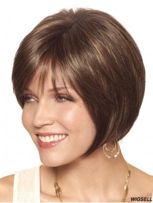 Bobs Short Brown Straight Hairstyles Petite Wigs
