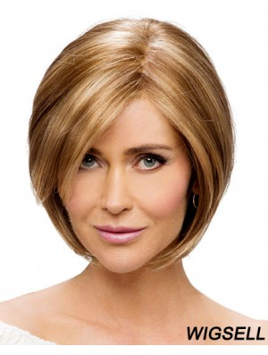 Monofilament Straight Chin Length Synthetic Buy Blonde Bob Wig