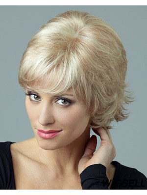 Beautiful Blonde Short Curly Layered Lace Front Wigs