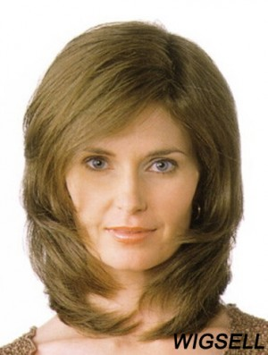 """Layered Shoulder Length Straight Blonde 13"""" Great Monofilament Wigs"""