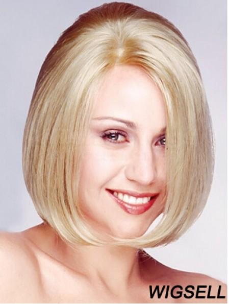 Bobs Chin Length Straight Blonde 11 inch No-Fuss Monofilament Wigs