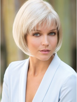 Platinum Blonde Bob Wig Short Capless Wig New Styles 10 Inch