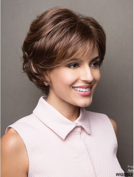 Brown Wig Short Women Wig With Fringes Capless Wig UK