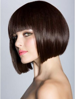 Bob Wigs Natural Capless Straight Hair Wig UK