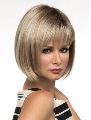 10 inch Short Capless Blonde Bob Wig