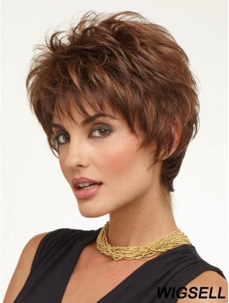 Cheap Ladies Wigs UK Auburn Color Cropped Length Capless Boycuts