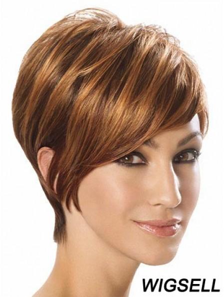 Wigs For Sale Layered Cut Short Length Auburn Color
