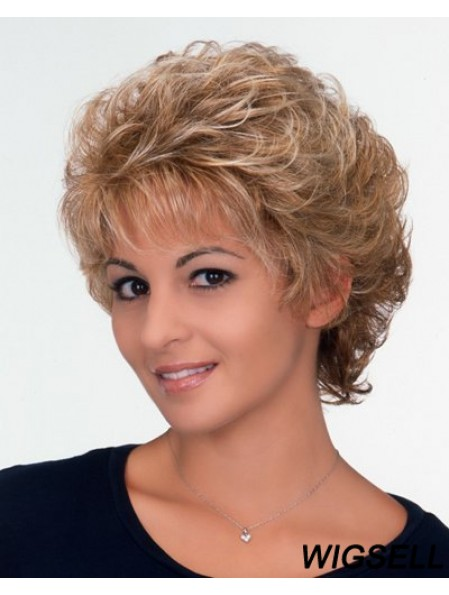 Ladies Wig With Capless Curly Style Short Length Classic Cut