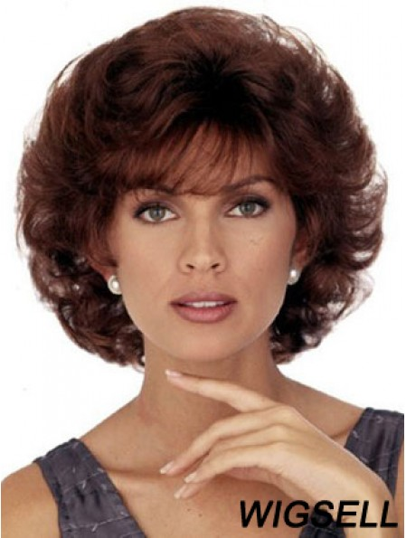 Chin Length Curly Capless Wigs For Sale