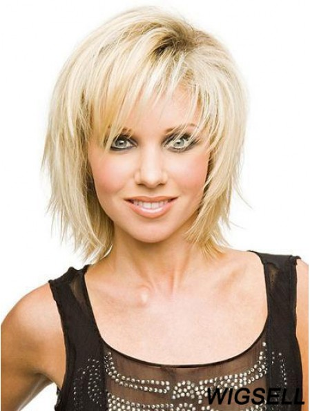 Cheap Wigs For Sale With Capless Blonde Color Layered Cut