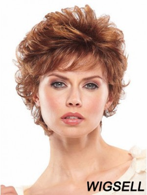 Short Wavy Capless Wigs For Women