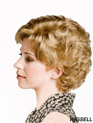 Curly Blonde Sassy Short Classic Wigs