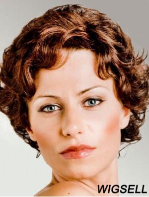 Curly Auburn Cheap Short Classic Wigs