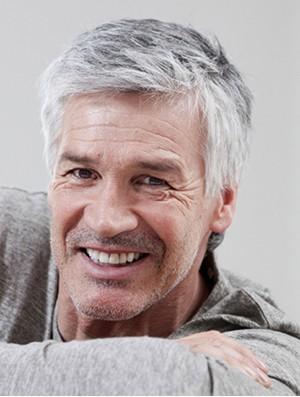 Grey Men Wig Short Hand Tied Straight Male Wig UK Natural