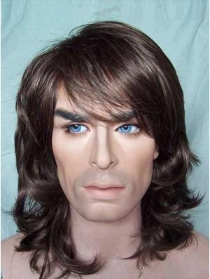 Men Wigs Shoulder Length 12Inch For Sale