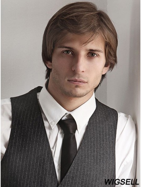 Short Blonde Straight Capless With Bangs Buy Wig Online For Men