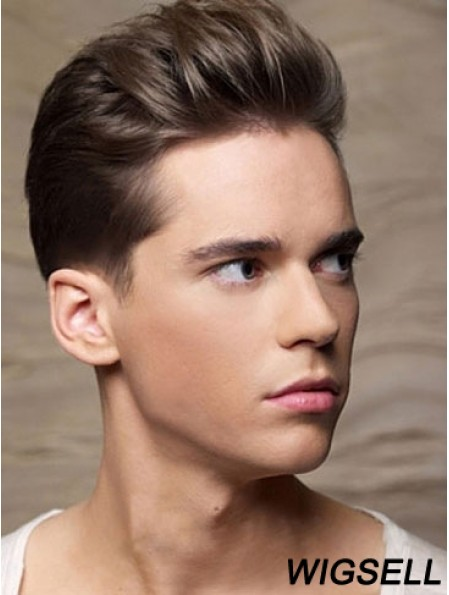 Remy Human Brown Straight Cropped Old Man Wigs For Sale