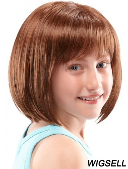 Kids Wigs UK Lace Front Chin Length With Synthetic