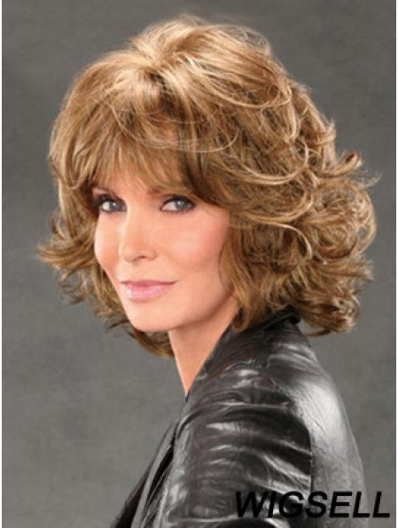 Jaclyn Smith Wigs With Bangs Lace Front Chin Length Brown Color