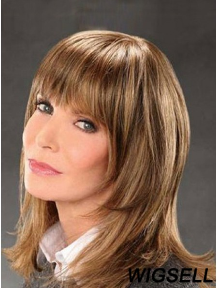 Shoulder Length Straight Bobs Lace Front Brown Exquisite 14 inch Jaclyn Smith Wigs