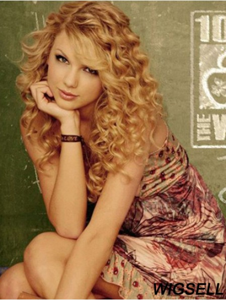 Taylor Swift Wigs With Bangs Remy Human Long Length