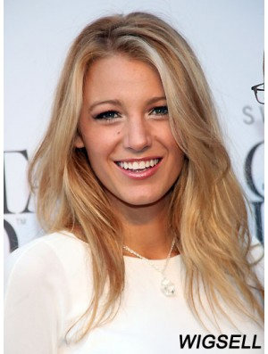 Great Blonde Long Straight 21 inch Without Bangs Blake Lively Wigs