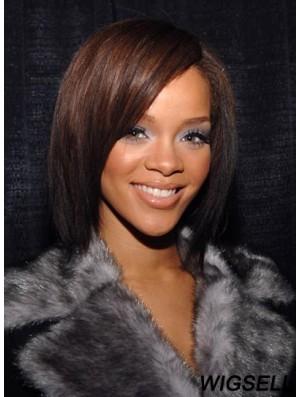 Modern Shoulder Length Auburn Straight Capless Rihanna Wigs